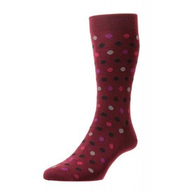 Pantherella Moon Sock Wine
