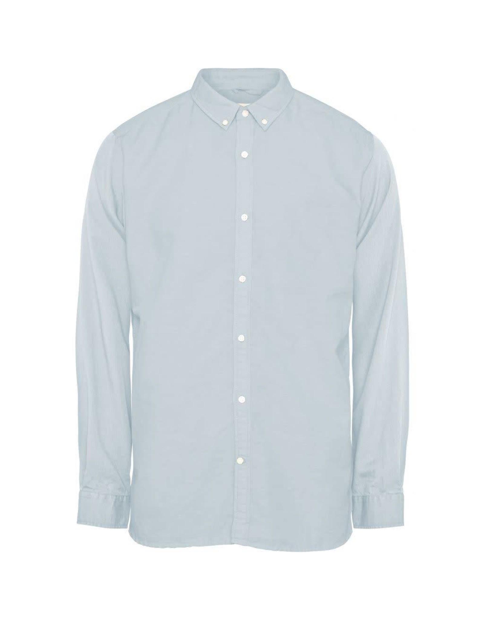 Knowledge Cotton Linen Mix Shirt Blue
