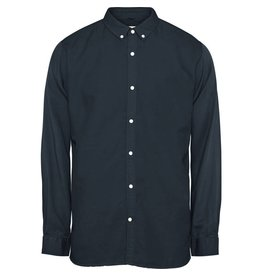 Knowledge Cotton Linen Mix Shirt Navy