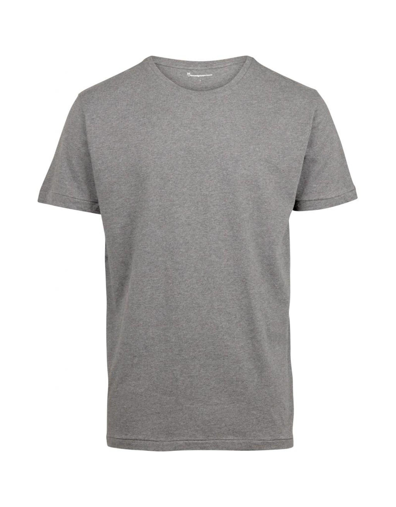 Knowledge Cotton Plain T Grey