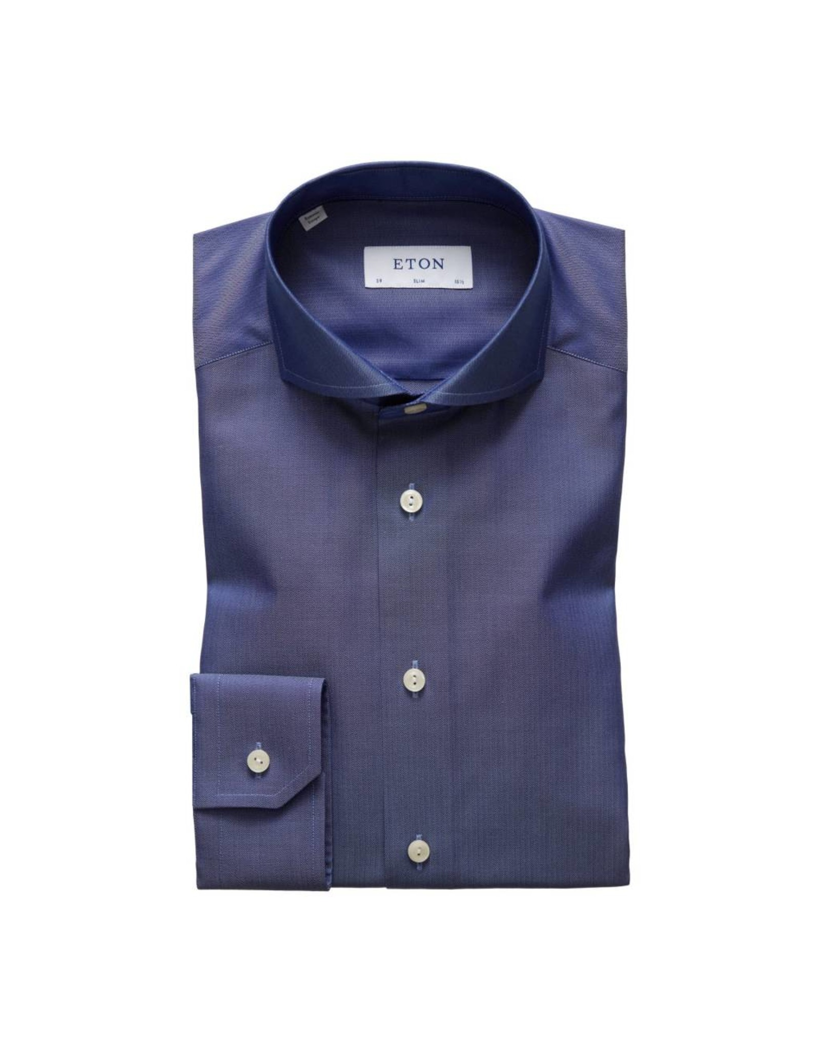 Eton Lycocell Shirt Navy