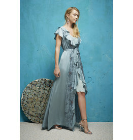Oky Coky Ruffle Maxi Dress