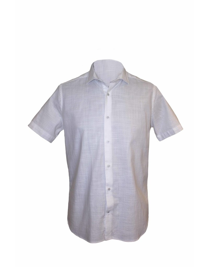 Pavilion Mens Short Sleeve Slub Shirt White