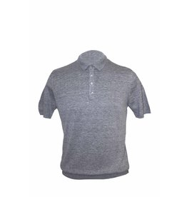 Pavilion Mens Linen Mix Polo Grey