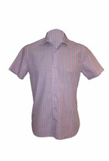 Pavilion Mens Short Sleeve Stripe Shirt Blue