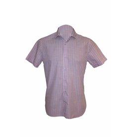 Pavilion Mens Short Sleeve Stripe Shirt Blue