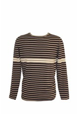 Pavilion Mens Stripe Jumper Khaki