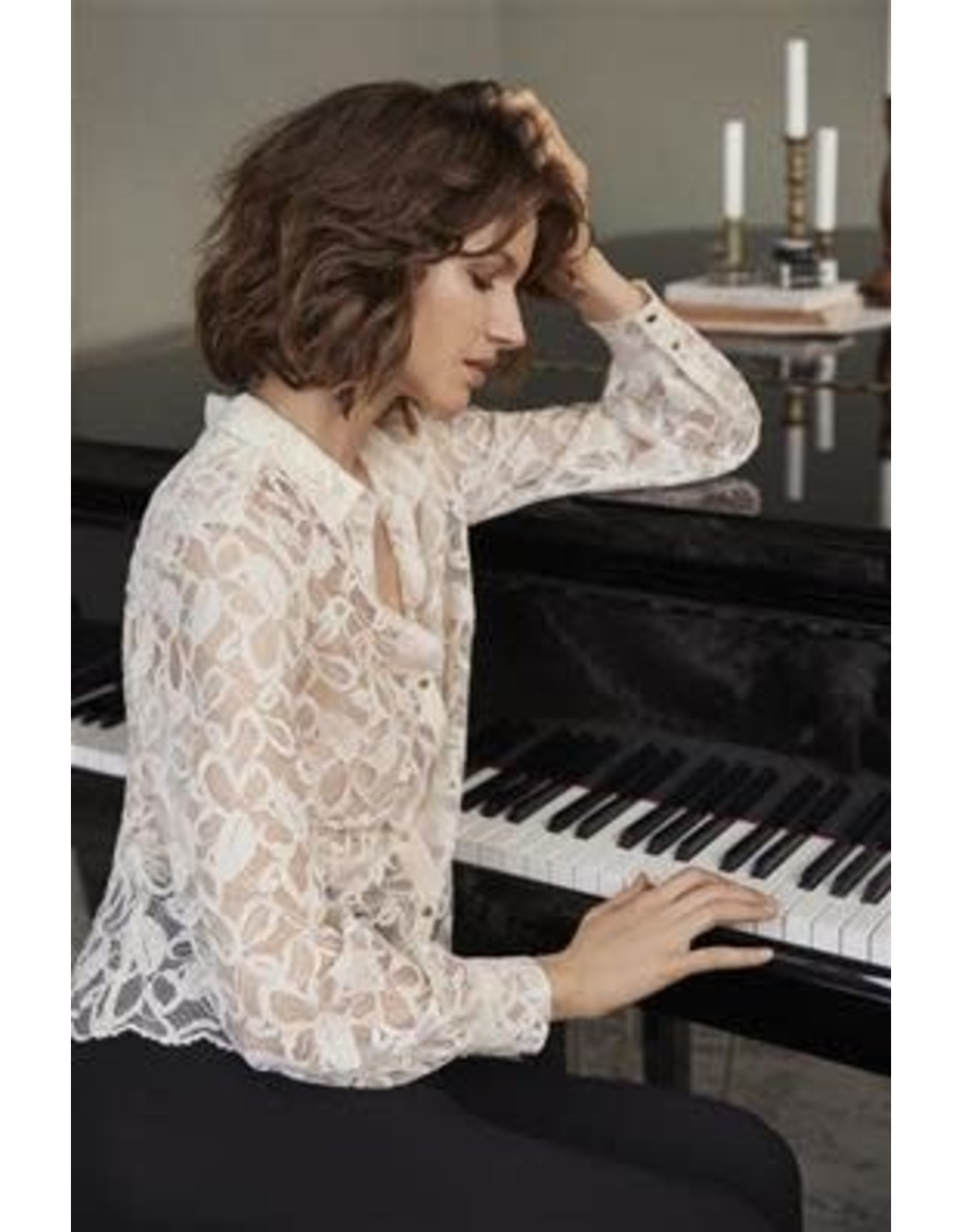 Part Two Vicky Lace Blouse Cream