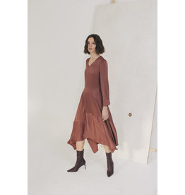 Sita Murt Satin Dress Brown