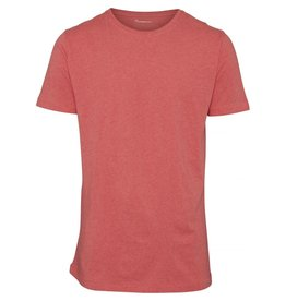 Knowledge Cotton Basic T Shirt Red