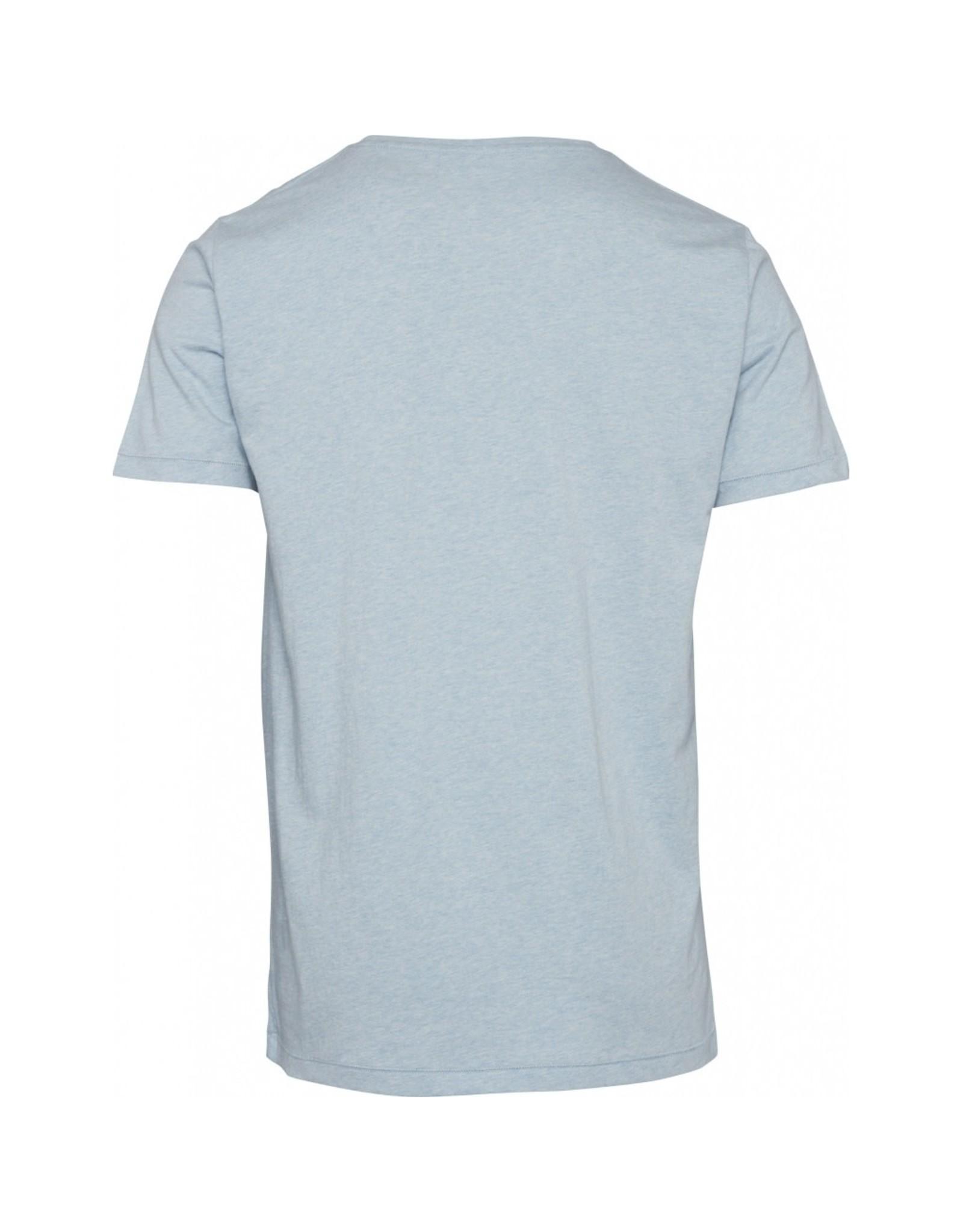 Knowledge Cotton Basic T Shirt Sky