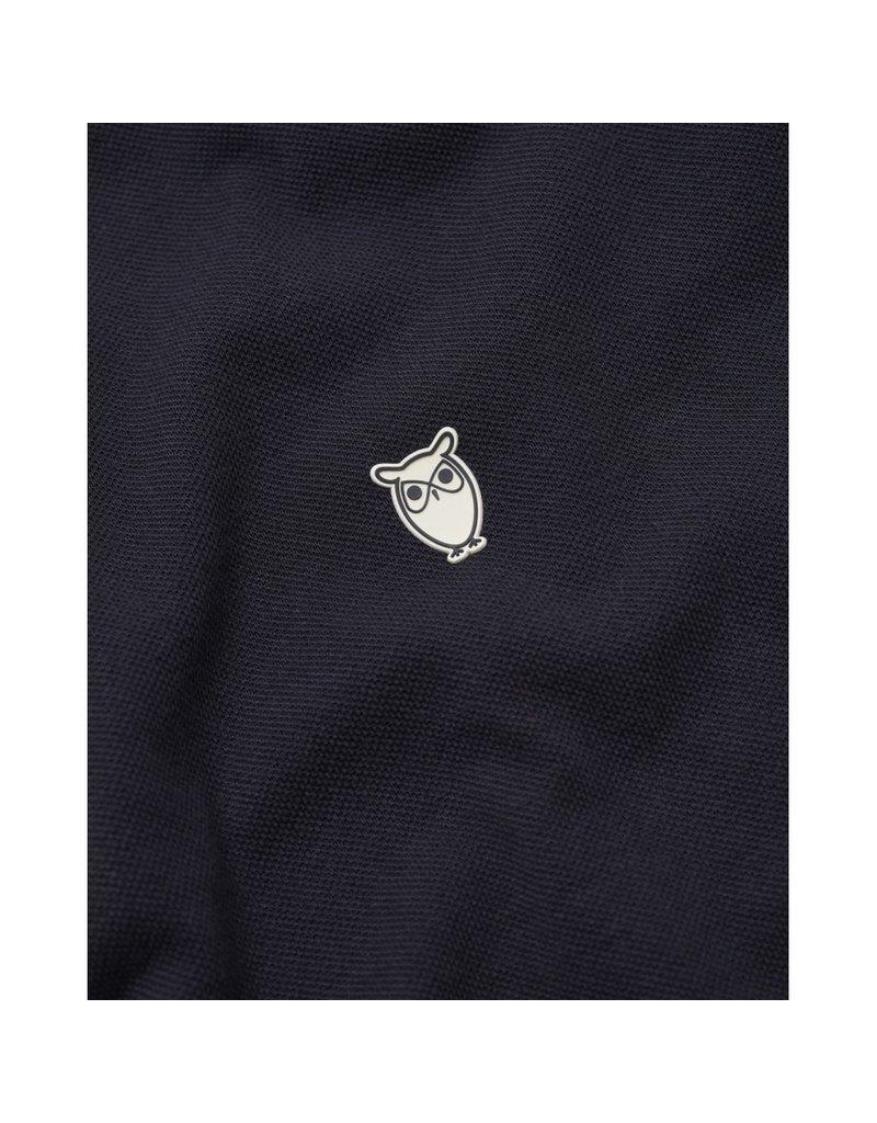 Knowledge Cotton Rowan Navy Polo Top
