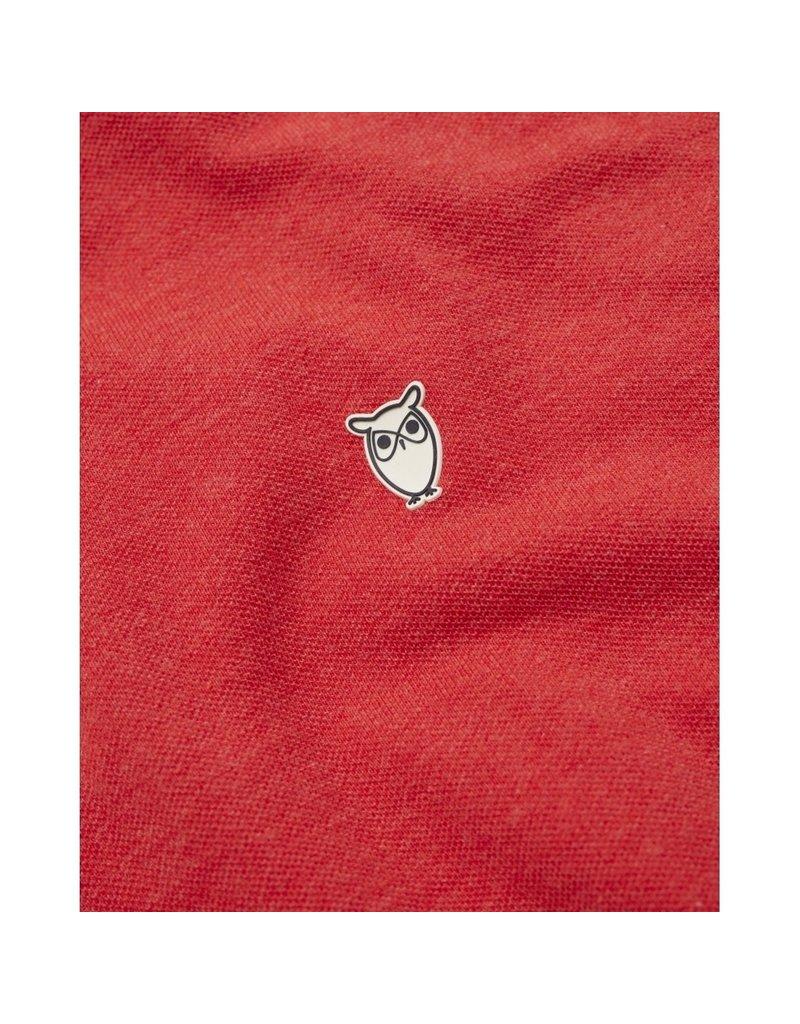 Knowledge Cotton Rowan Red Polo Top
