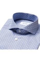 Eton Tile Print Navy Shirt