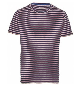 Knowledge Cotton Alder Stripe T Shirt