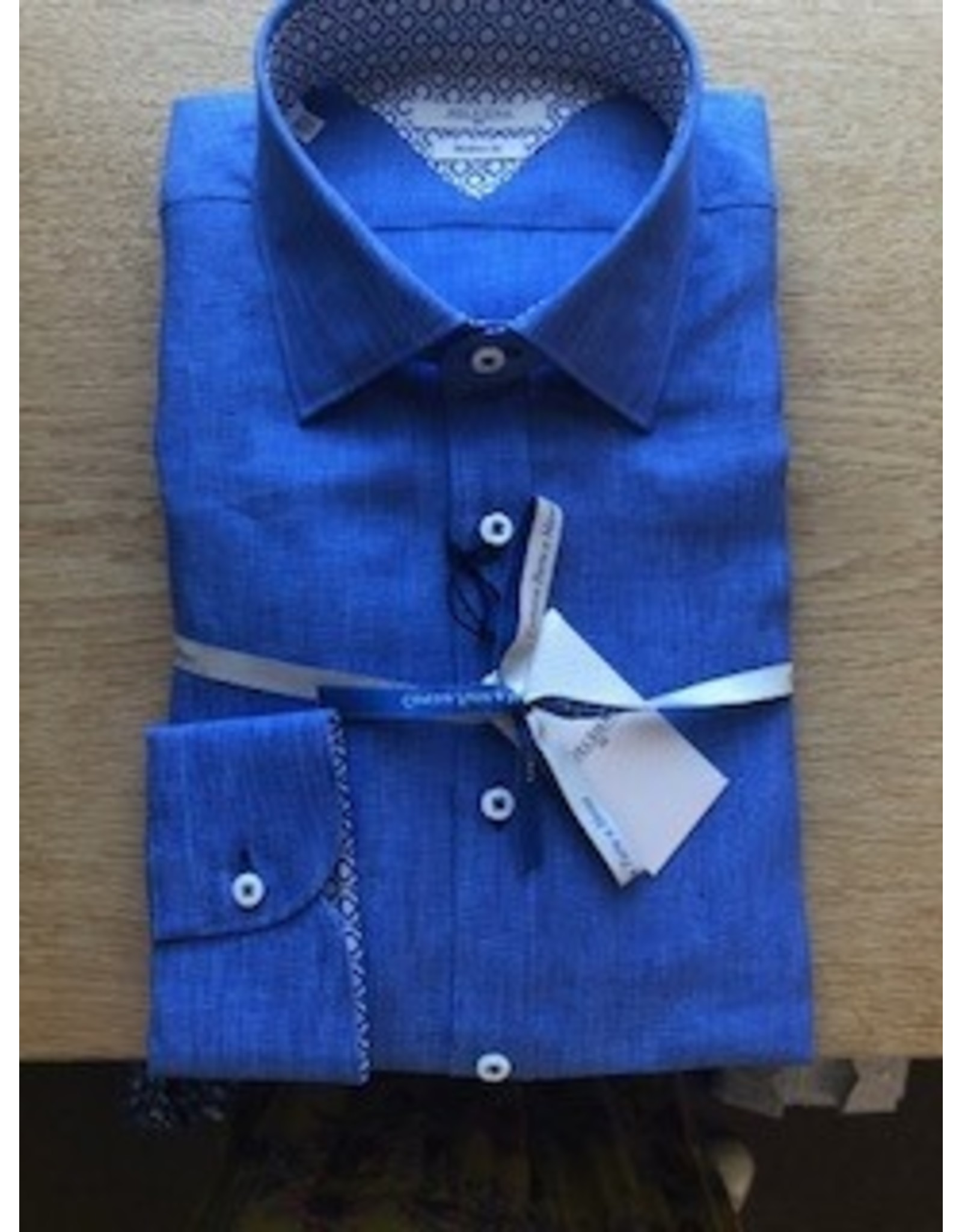 Delsiena Linen Trim Shirt Sky