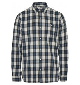 Knowledge Cotton Larch Check Shirt Forest