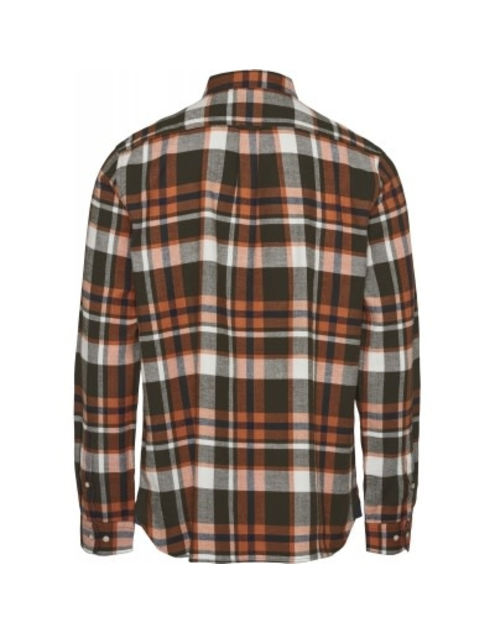 Knowledge Cotton Larch Check Shirt Rust