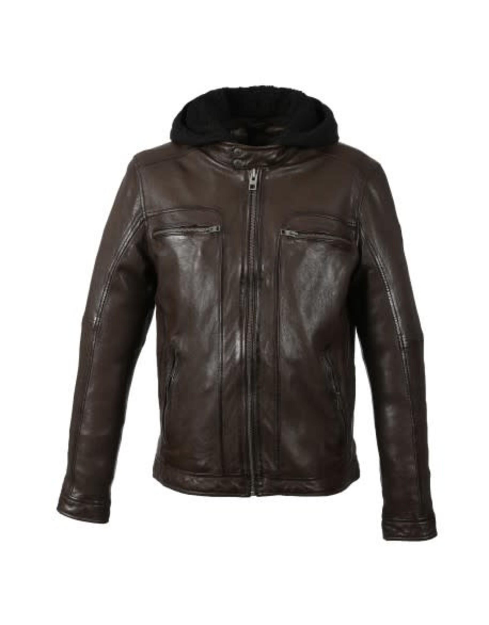 Oakwood Mens Drink Leather Jacket
