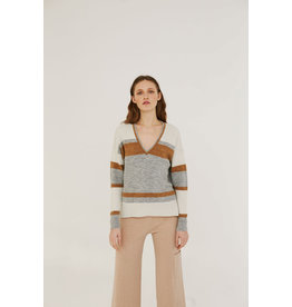 Sita Murt Stripe V Neck Jumper