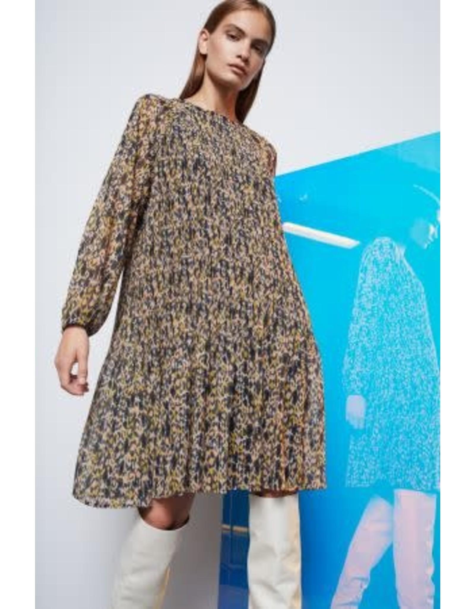 Set Yellow Print Dress