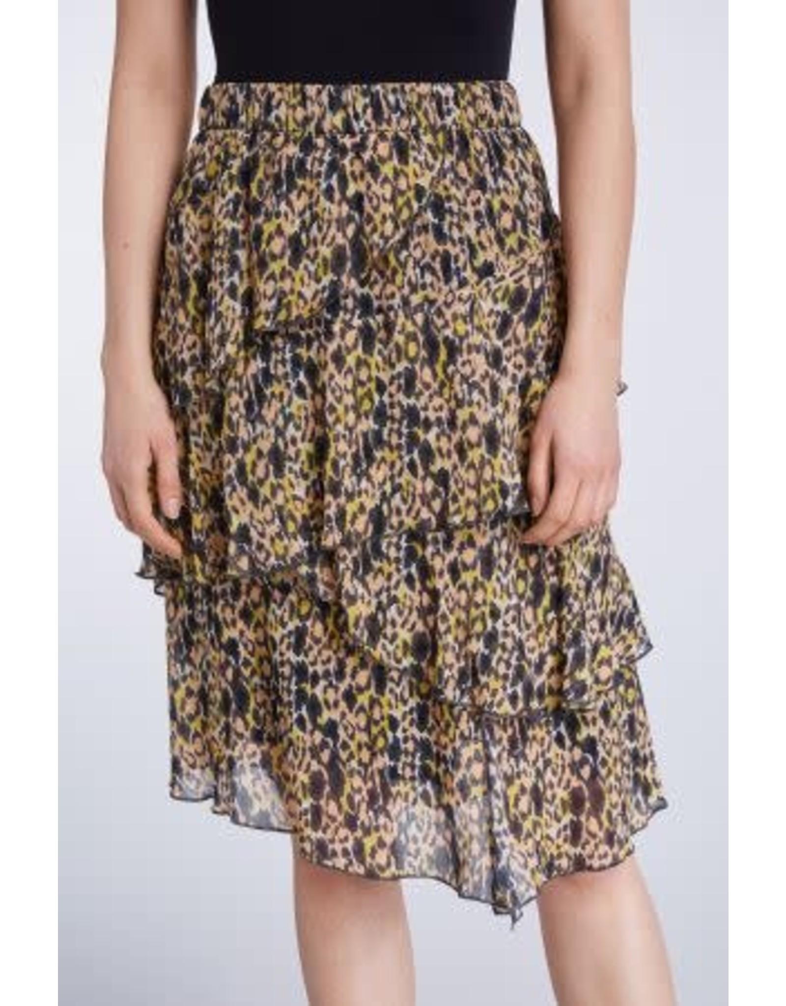 Set Yellow Print Skirt