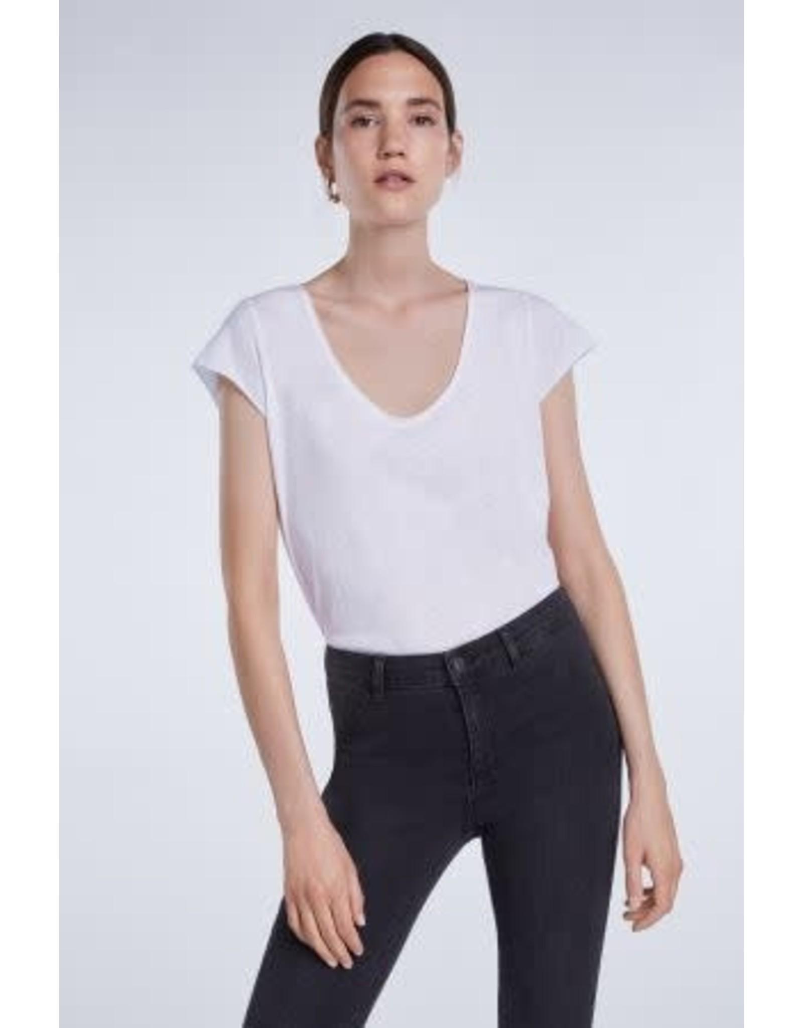 Set V T Shirt White