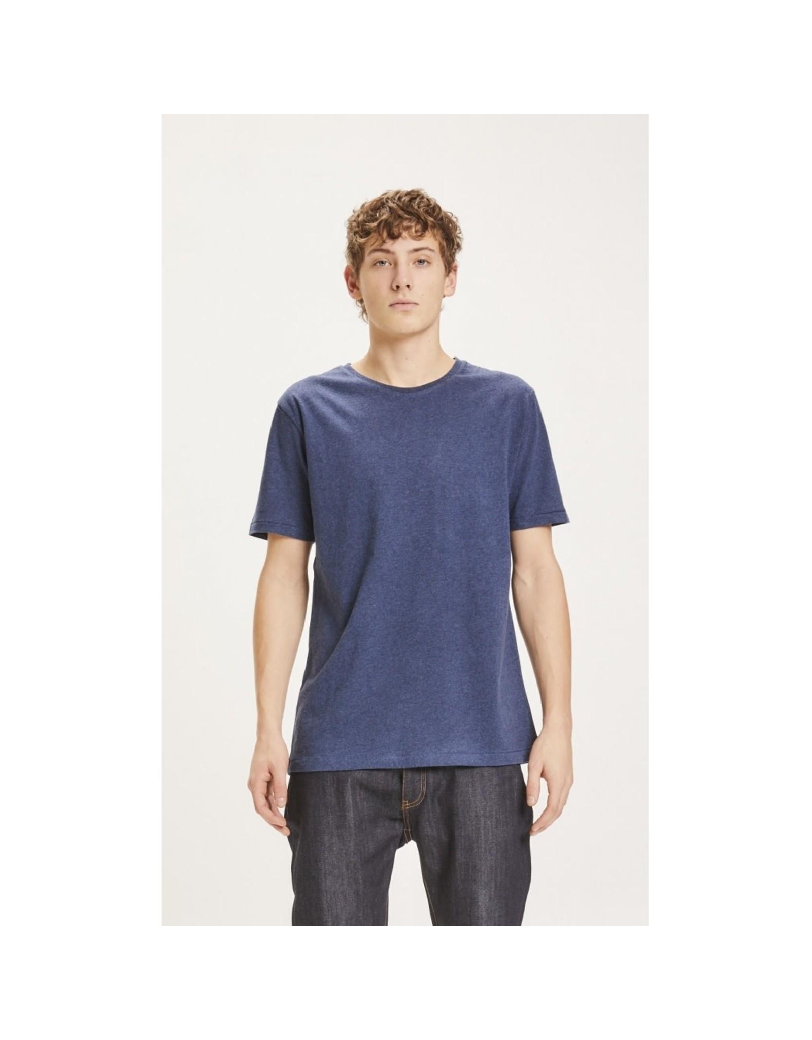 Knowledge Cotton Basic T Shirt Denim