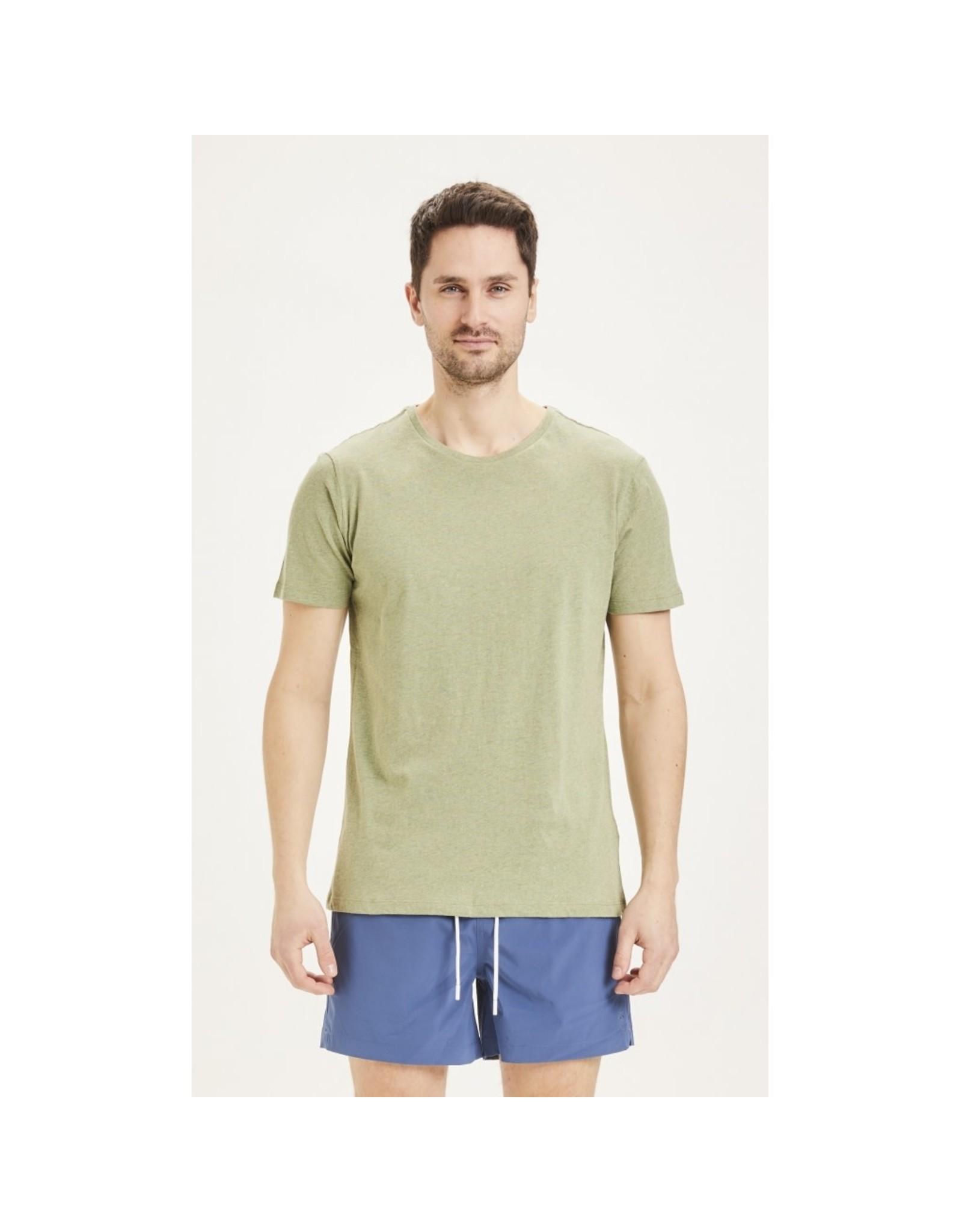 Knowledge Cotton Basic T Shirt Sage