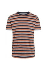 Knowledge Cotton Triple Stripe T Shirt