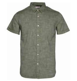 Knowledge Cotton Short Sleeve Linen Shirt Pine