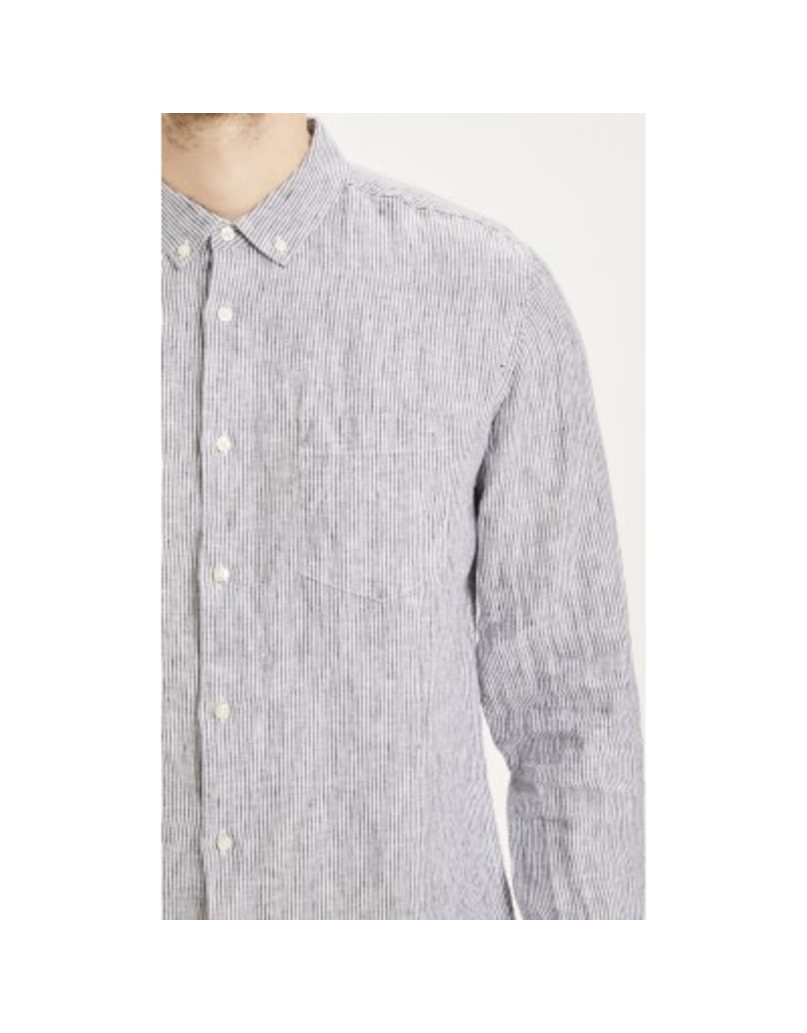 Knowledge Cotton Stripe Linen Shirt