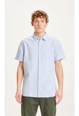 Knowledge Cotton Short Sleeve Linen Shirt Sky