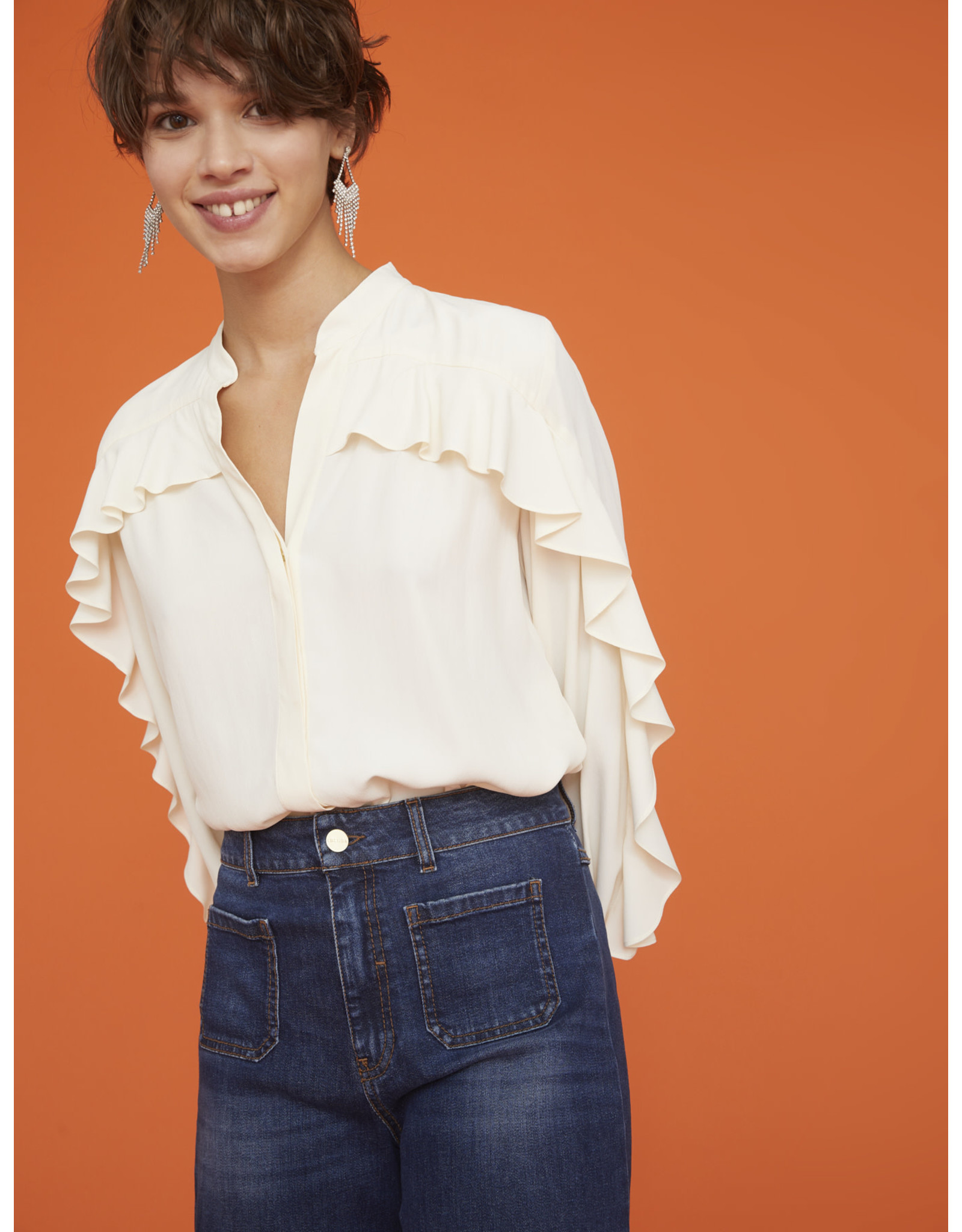 i Blues Zenobia Ruffle Shirt