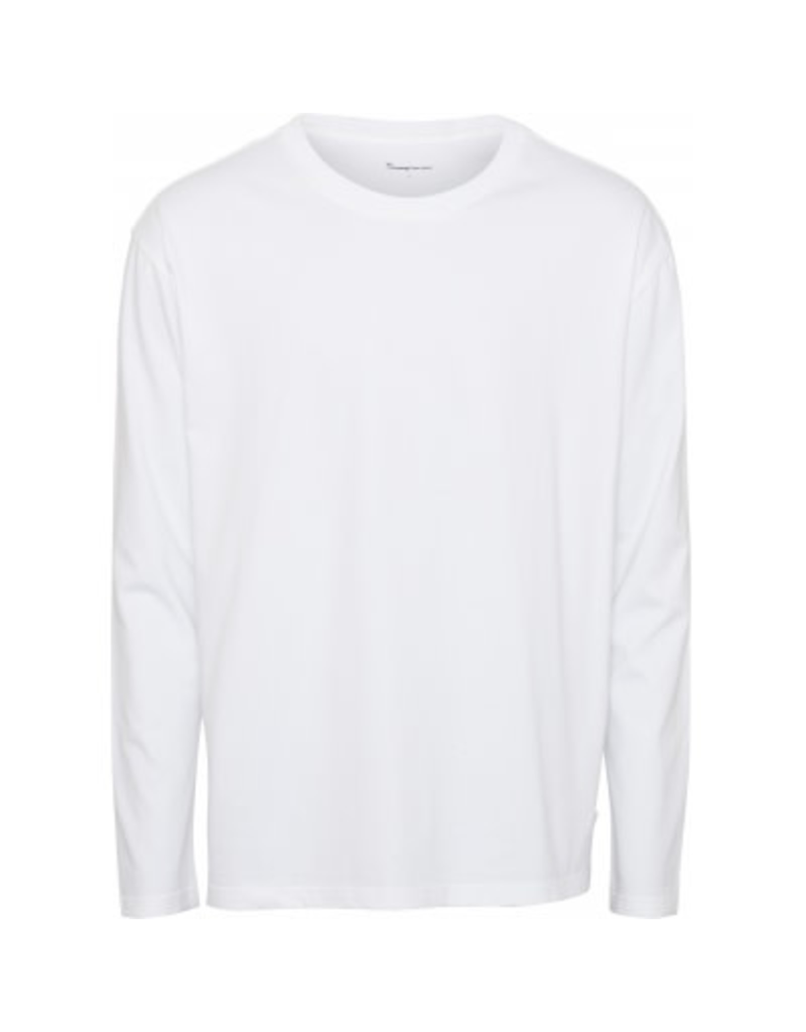 Knowledge Cotton Long Sleeve T Shirt White