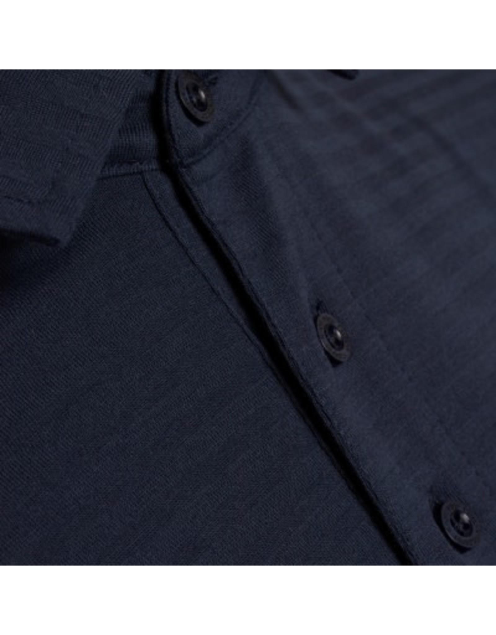 Knowledge Cotton Tonal Stripe Polo Top
