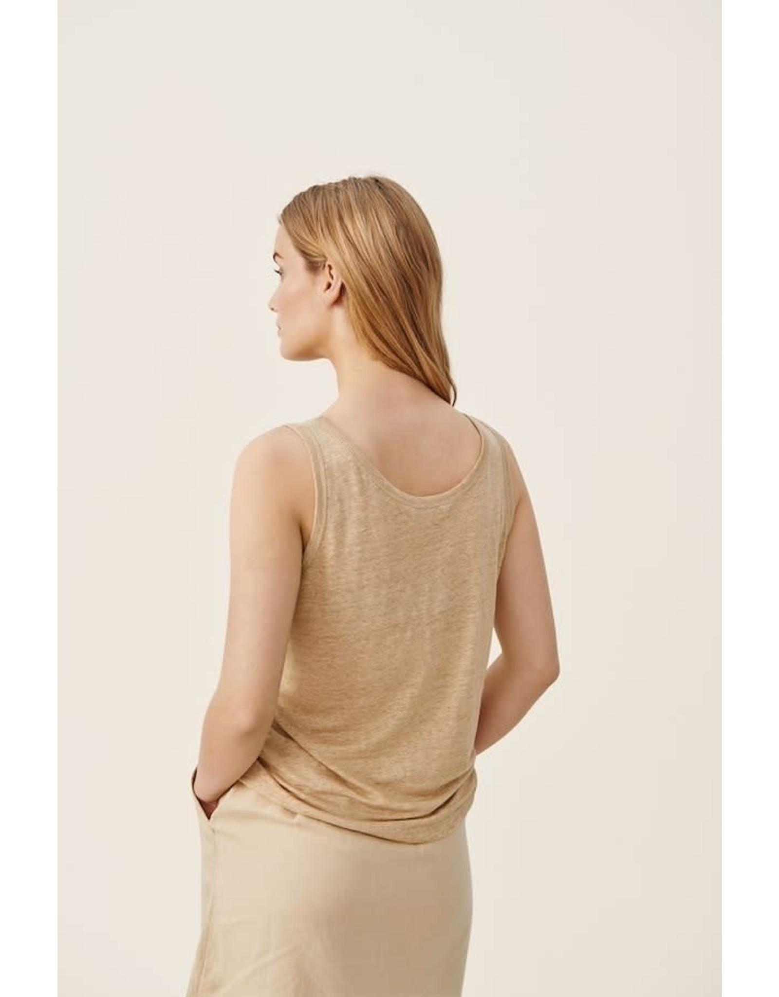 Part Two Isnel Linen Vest Beige
