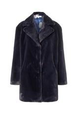 Charlotte Sparre Faux Fur Coat Blue