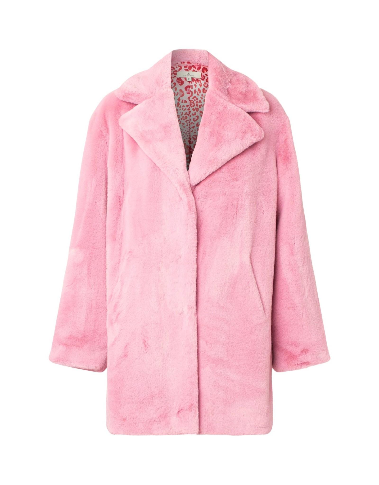 Charlotte Sparre Faux Fur Coat Pink