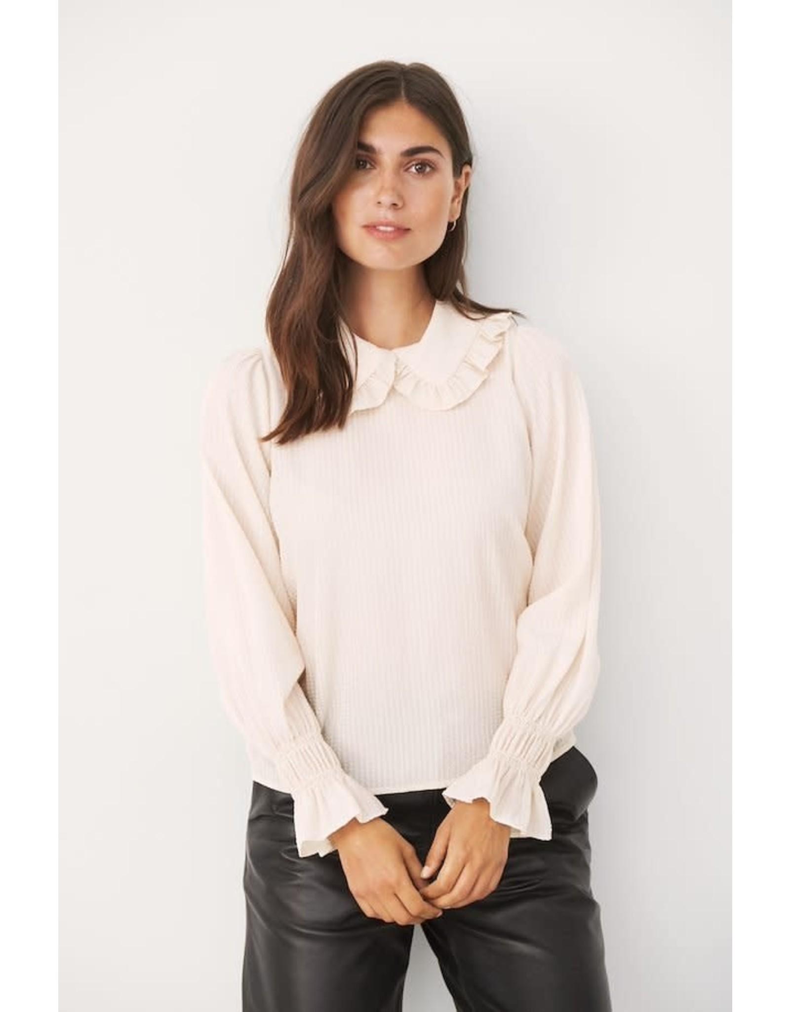Part Two Kasia Collar Cream Top