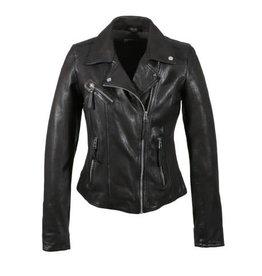 Oakwood Clips Black Leather Jacket