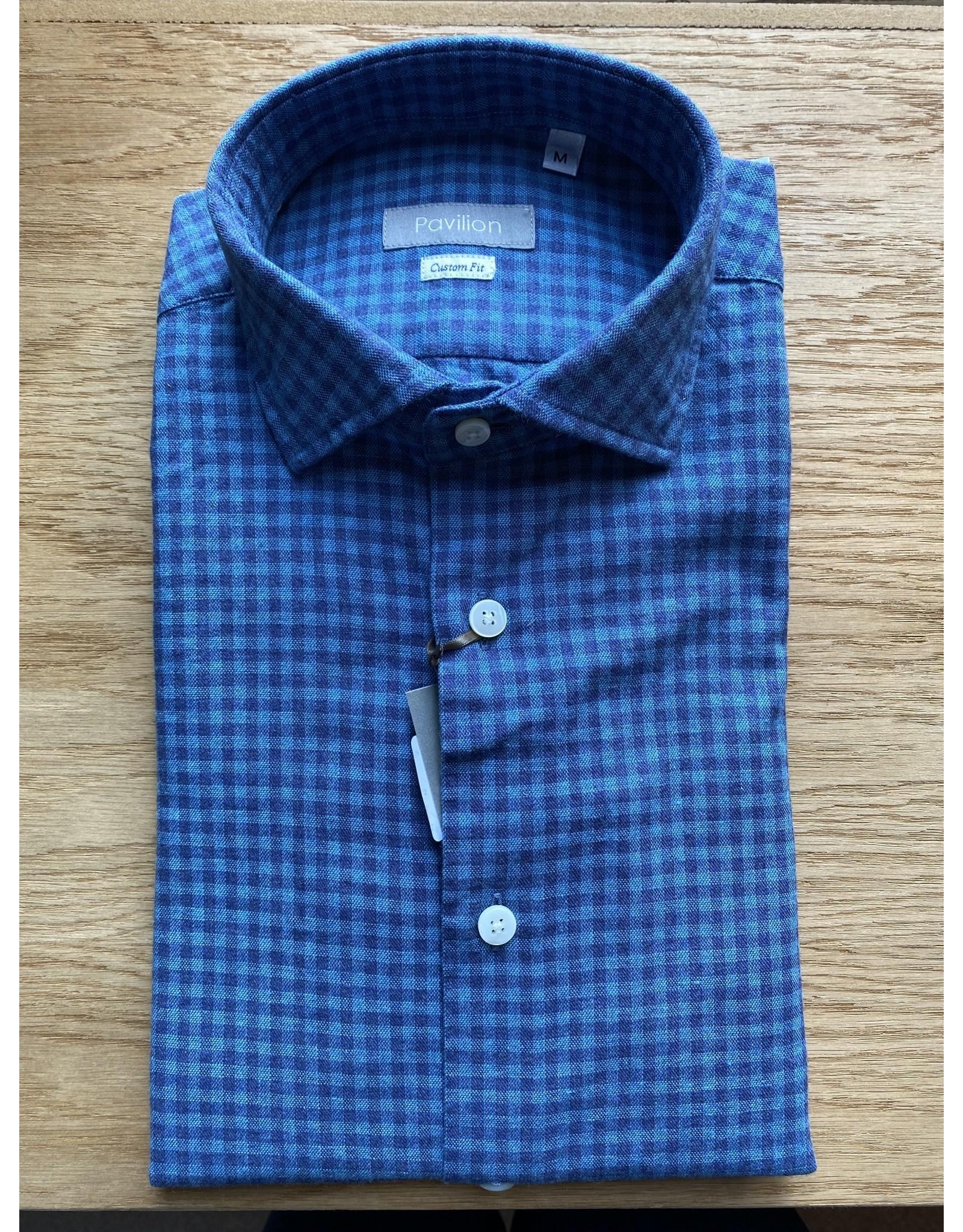 Pavilion Mens Check Flannel Blue Shirt