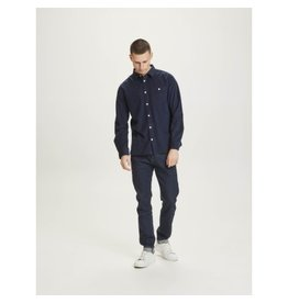 Knowledge Cotton Cord Shirt Navy