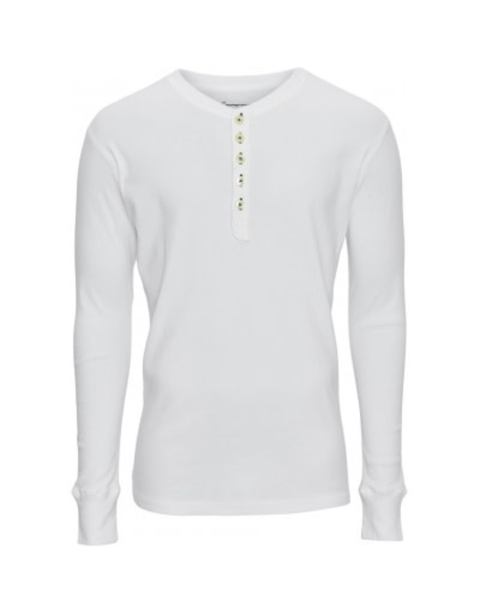 Knowledge Cotton Henley White Top