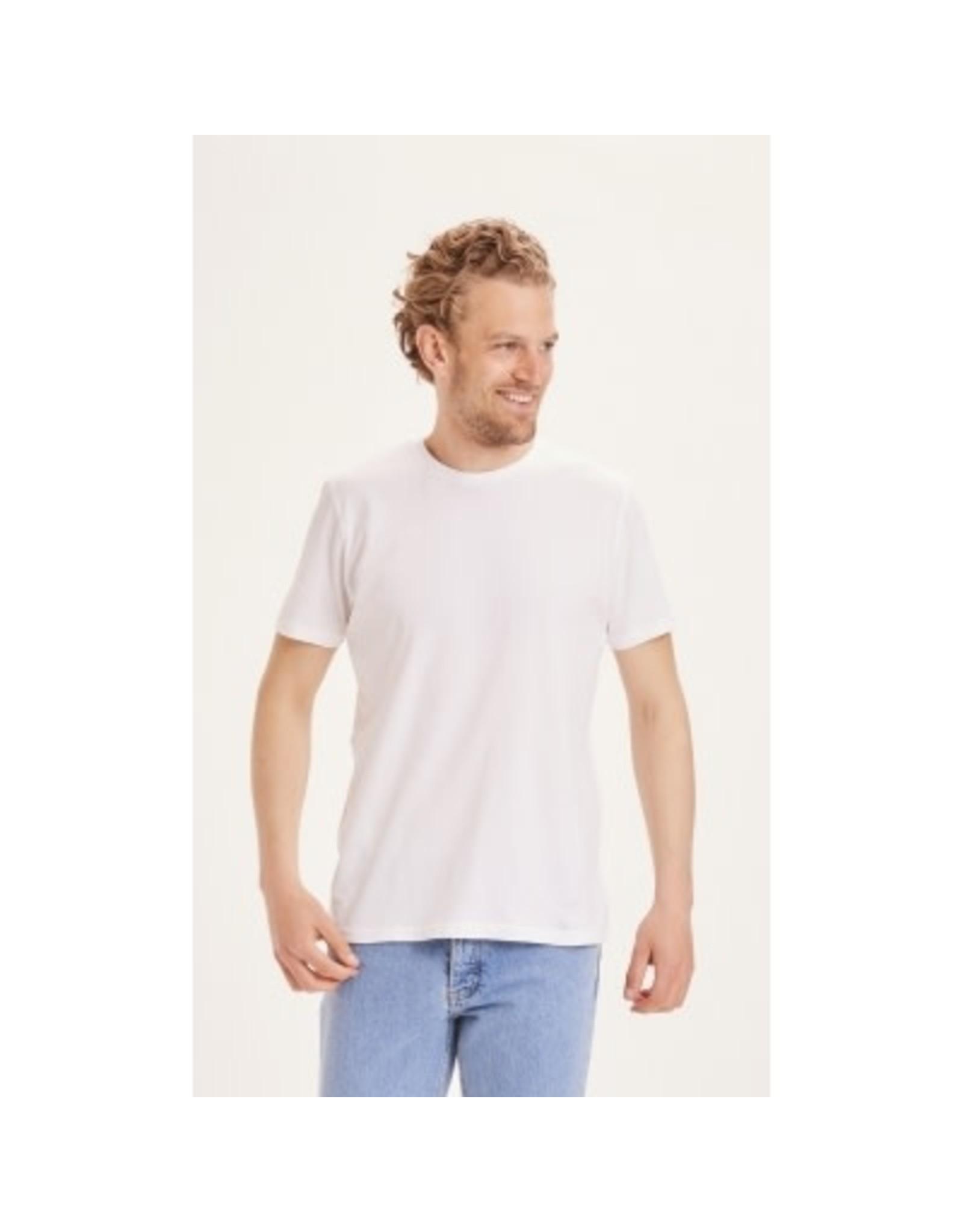 Knowledge Cotton Plain T Shirt