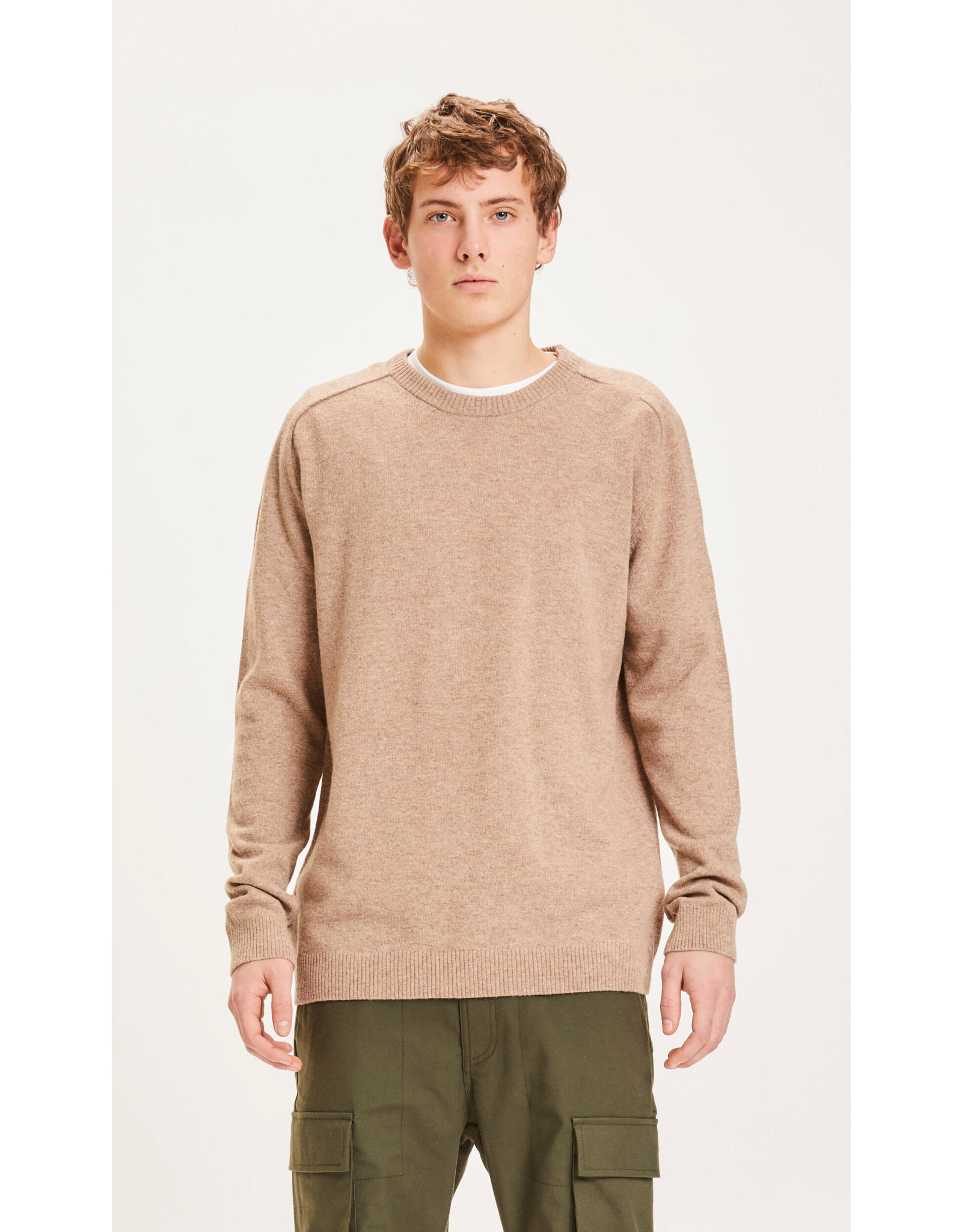 Knowledge Cotton Lambswool Sand Jumper