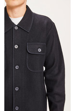 Knowledge Cotton Boiled Wool Overshirt