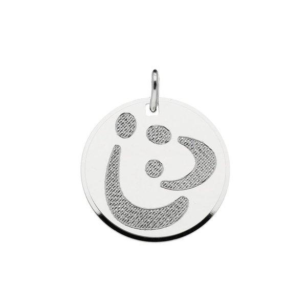 Zilveren graveerplaatje - 20x20 mm - familiehanger