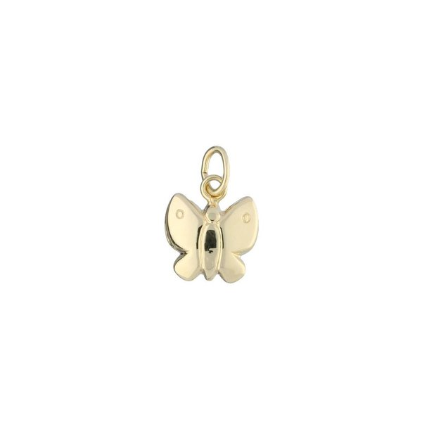 Gouden kinderbedel - vlinder