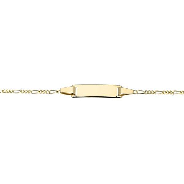 Gouden kinderplaatarmband - 10-12 cm - figaro